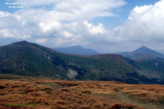 Краєвид Чорногори. Позаду Говерла.