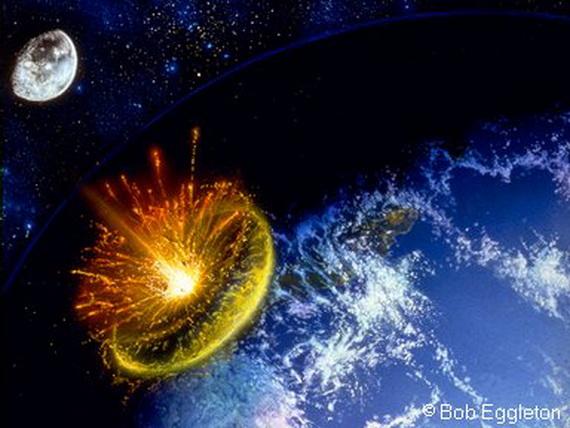 Падіння астероїда на Землю. Джерело: http://www.timeenoughforlove.org