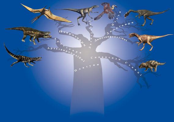 Еволюційне дерево нащадків плазунів (малюнок: Заморока А.)