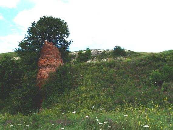 Руїна вапнярки у с. Кремидів. Раніше тут переробляли місцеві вапняки та крейду на вапно. (світлина Василя Маланюка)