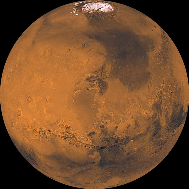 Вигляд Марсу із космосу