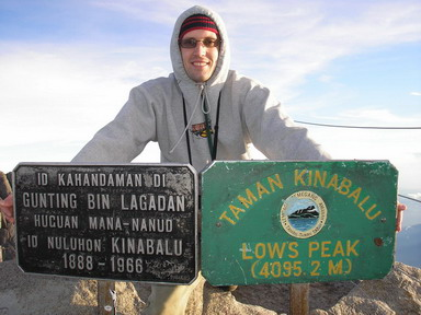 Author on the top of Mt. Kinabalu