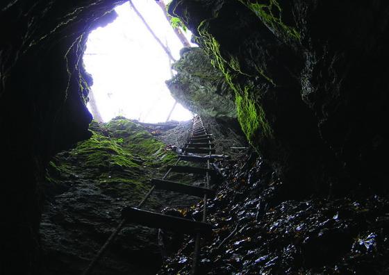 Краєвиди Галицького НПП: Одна із численних печер (світлина Володимира Бучка)