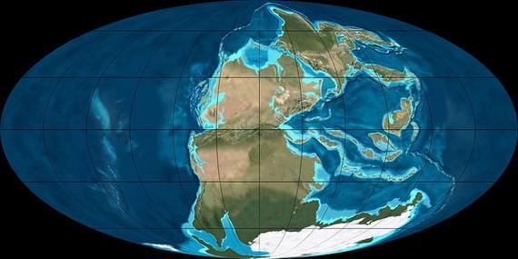 Мапа Землі у пермському періоді