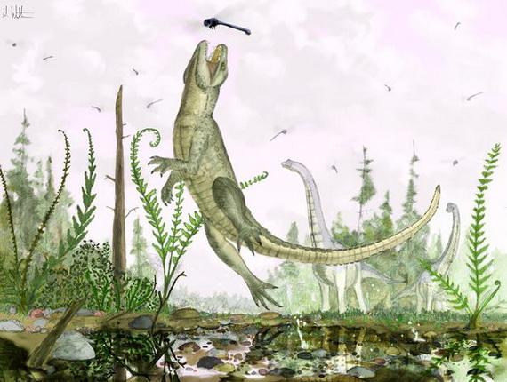 Крокодил із зубами ссавця паказух